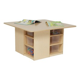 Cubby Table w/ 12 Clear Trays