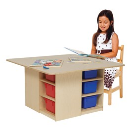 Cubby Table w/ 12 Assorted Trays