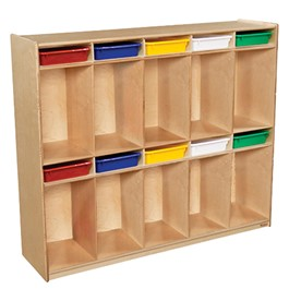 10-Section Locker w/ Assorted Trays
