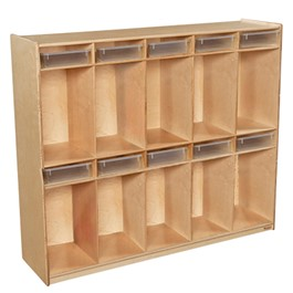 10-Section Locker w/ Translucent Trays