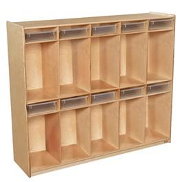 10-Section Locker w/ Translucent Trays