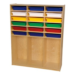 Cubby Storage w/ Assorted Trays