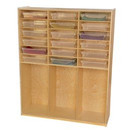 Cubby Storage w/ Translucent Trays