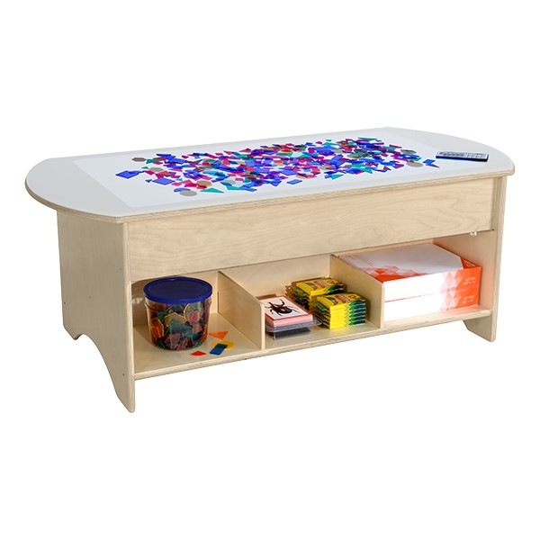 "Brilliant Light Table w/ Storage (48"" W)"
