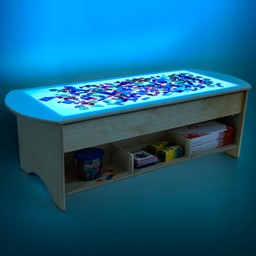 "Brilliant Light Table w/ Storage (48"" W) - Sensory toys not included"