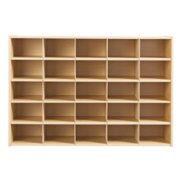 25-Tray Cubby Storage Unit w/o Trays